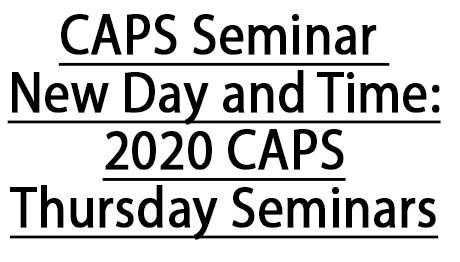 Thursday Seminar