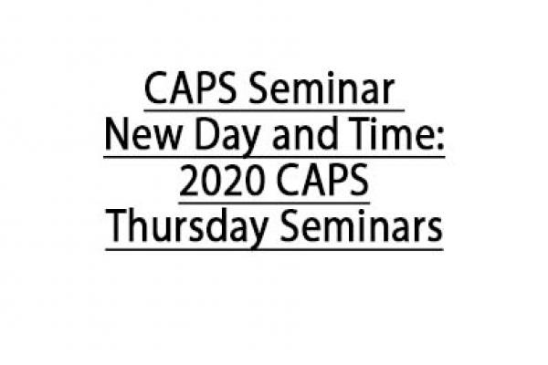 Thursday Seminar for homepage